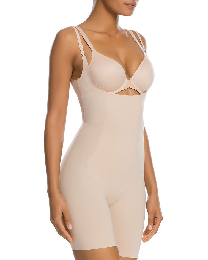 85022e5287e17 SPANX® - Thinstincts Open-Bust Mid-Thigh Bodysuit