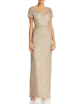 Adrianna Papell - Metallic Lace Gown