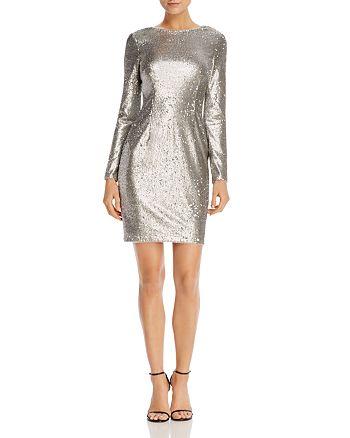Aidan by Aidan Mattox - Long-Sleeve Sequin Sheath Dress