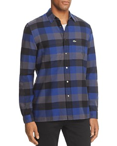 Lacoste Plaid Long Sleeve Button-Down Shirt - Bloomingdale's_0