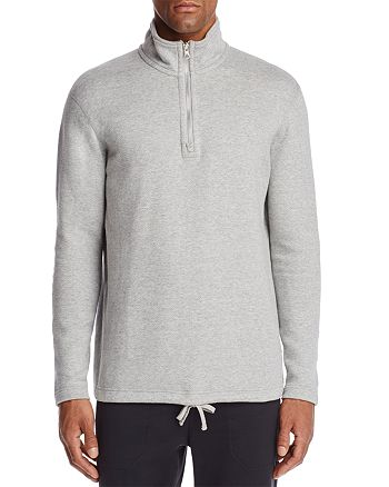 REIGNING CHAMP - Quarter-Zip Long Sleeve Sweatshirt