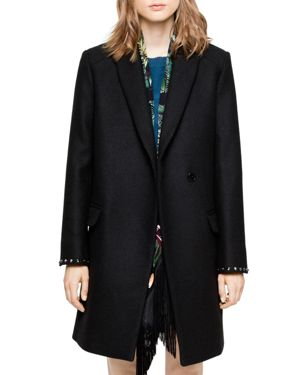 Zadig & Voltaire Marco Studded-Cuff Coat