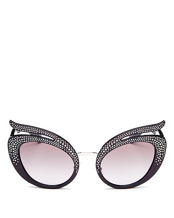 b74a8343aa78 Miu Miu - Women s Embellished Cat Eye Sunglasses