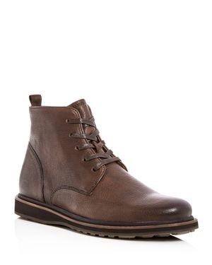 John Varvatos Star Usa Men's Brooklyn Lug Leather Lace Up Boots
