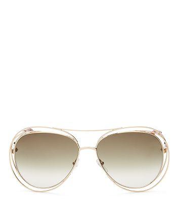 3050779eb5c0 Chlo eacute  - Women s Carlina Aviator Sunglasses