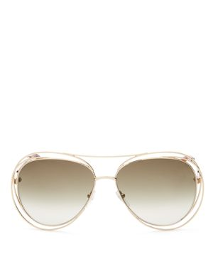 WOMEN'S CARLINA AVIATOR SUNGLASSES, 61MM