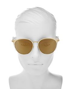 Saint Laurent - Women's Mirrored Round Sunglasses, 57mm