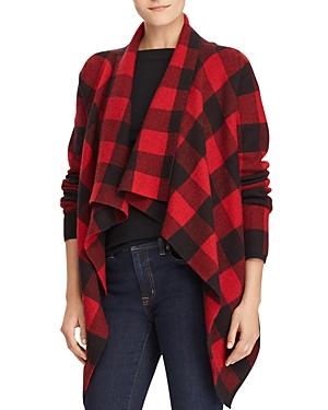 Lauren Ralph Lauren Merino Wool Draped Open Front Jacket