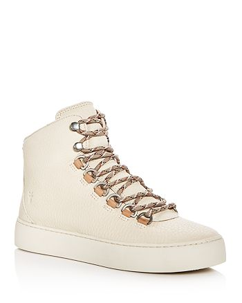 Frye - Women's Lena Leather Platform Hiker Sneakers