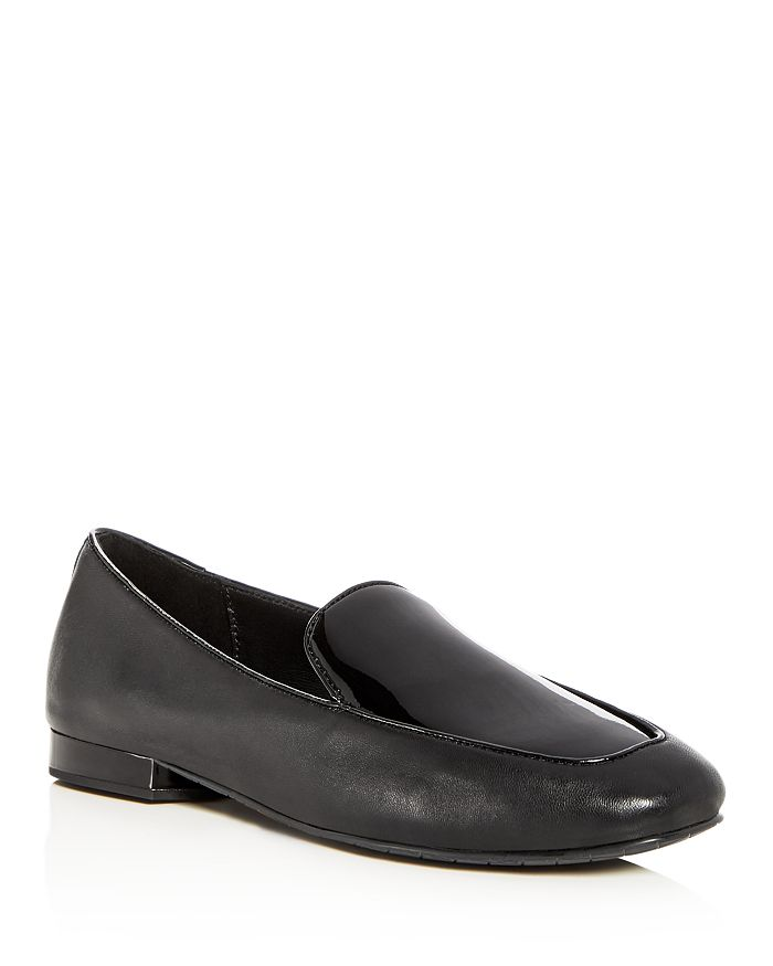 efc9adde414 Donald Pliner Women s Honey Leather   Patent Leather Loafers ...