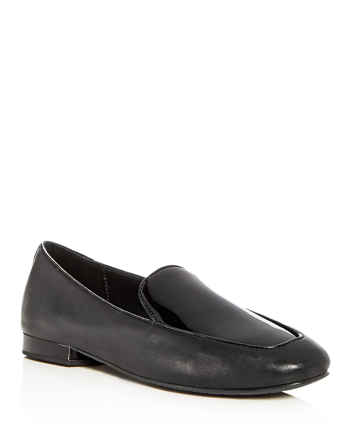 Donald Pliner Women's Honey Leather & Patent Leather Loafers Zi0yV1UK