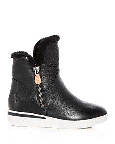 Gentle Souls by Kenneth Cole - Women's Hazel-Levitt Leather & Shearling Sneaker Booties