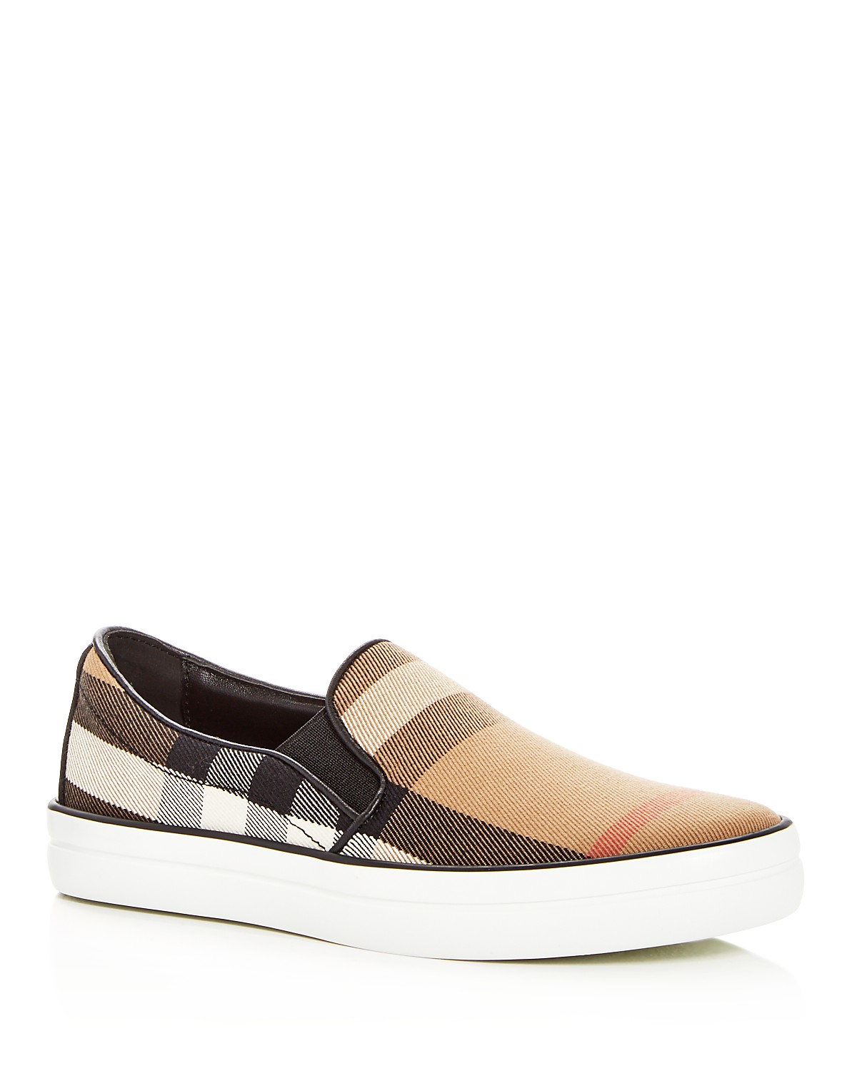 Burberry Women's Gauden Signature Check Slip-On Sneakers