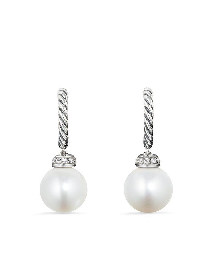 David Yurman - Solari Drop Earrings with Diamonds & Cultured Freshwater Pearls