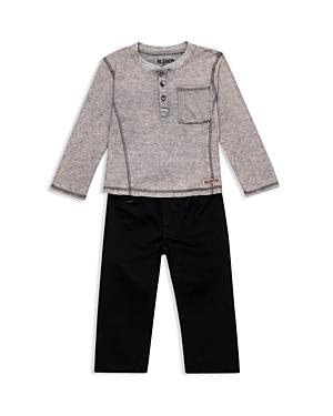 Hudson Boys Striped Henley  Twill Pants Set  Little Kid