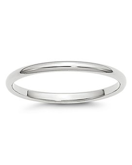 Bloomingdale's - Men's 2mm Half Round Band Ring in 14K White Gold - 100% Exclusive