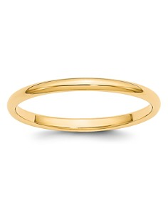 Bloomingdale's - Men's 2mm Half Round Band Ring in 14K Yellow or 14K White Gold - 100% Exclusive