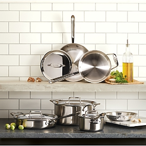 All-Clad D5 Stainless Brushed 5-Ply Bonded 10-Piece Cookware Set