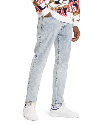 TOMMY HILFIGER TOMMY JEANS 90'S ACID WASH STRAIGHT FIT JEANS IN LIGHT BLUE