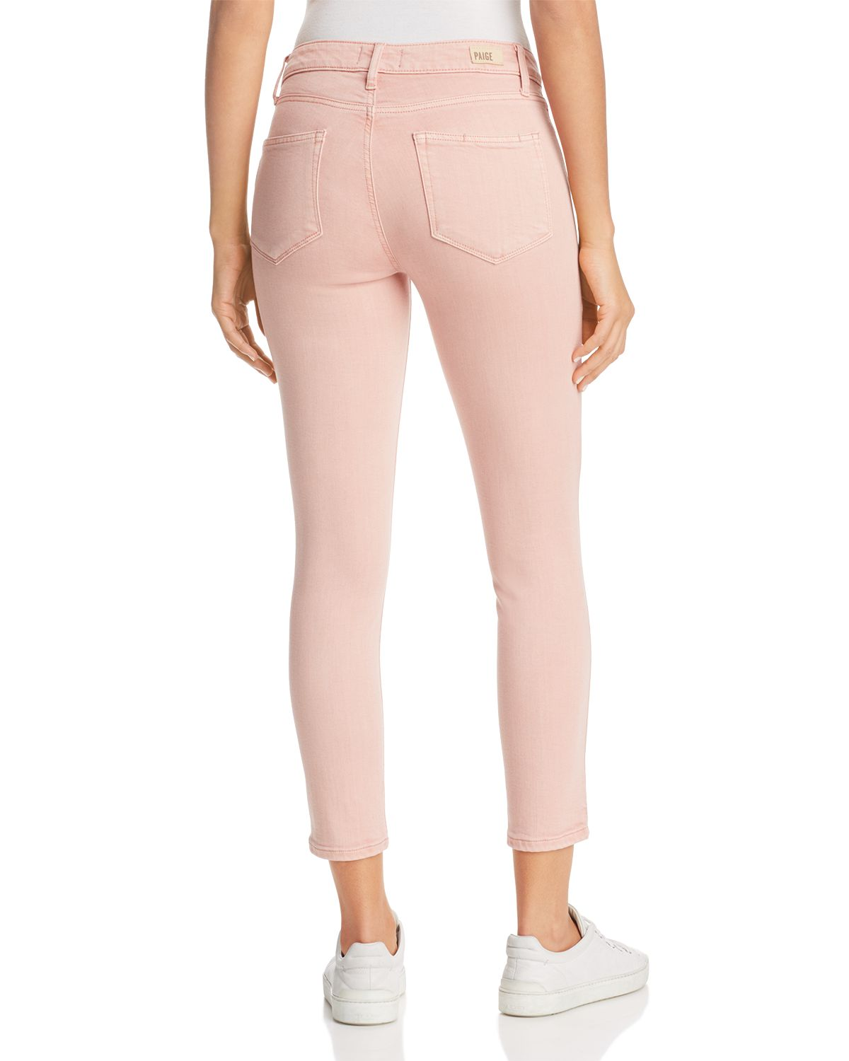 Verdugo Cropped Skinny Jeans In Faded Pink Orchid   100 Percents Exclusive by Paige