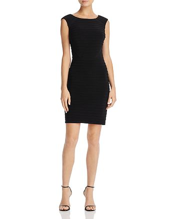 Adrianna Papell - Pintuck Matte Jersey Dress