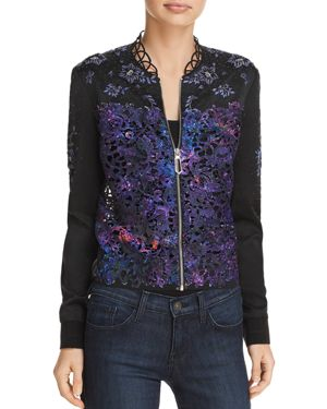 BRANDY EMBELLISHED BOMBER JACKET - 100% EXCLUSIVE