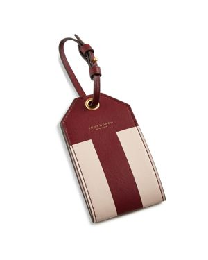 Tory Burch Color-Blocked Leather Luggage Tag