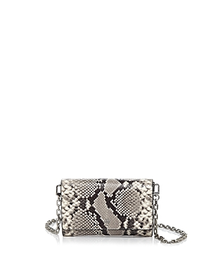 Tory Burch Robinson Embossed Snakeskin Leather Crossbody Chain Wallet