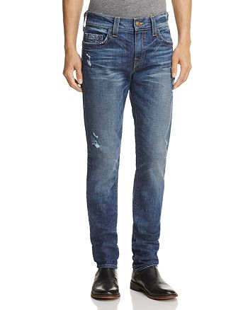 True Religion - Rocco Slim Fit Jeans in Dark Blue Wash
