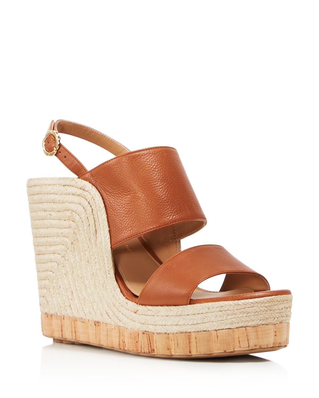 Salvatore Ferragamo Women's Leather Slingback Espadrille Wedge Sandals quZUYHrIfu