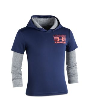 Under Armour Boys' Layered-Look Training Hoodie - Little Kid