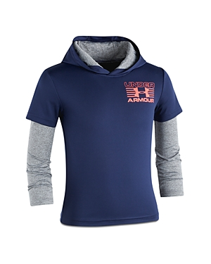 Under Armour Boys LayeredLook Training Hoodie  Little Kid