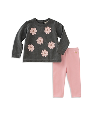 kate spade new york Girls Floral Applique Swing Sweater  Pants Set  Baby