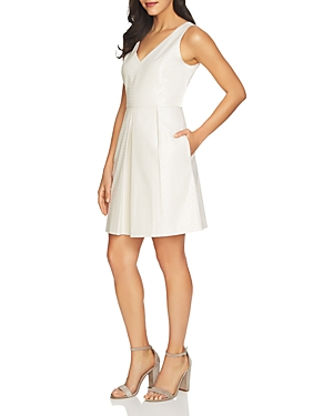 CeCe by Cynthia Steffe Rose V-Neck Jacquard Dress