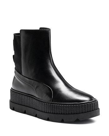 b00db3b1b15520 FENTY Puma x Rihanna Women s Leather Chelsea Sneaker Booties ...