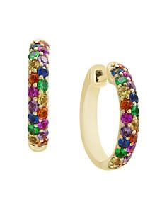 Bloomingdale's - Multi Sapphire Hoop Earrings in 14K Yellow Gold - 100% Exclusive