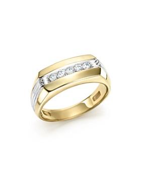 e61215727893 Bloomingdale s - Men s Diamond Five-Stone Ring in 14K Yellow   White Gold