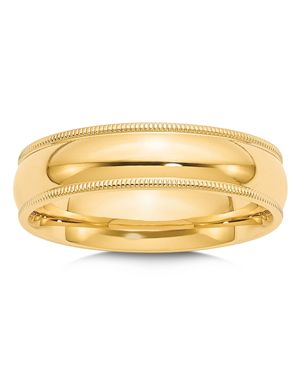 Bloomingdale's Men's 6mm Milgrain Comfort Fit Wedding Band in 14K Yellow Gold - 100% Exclusive