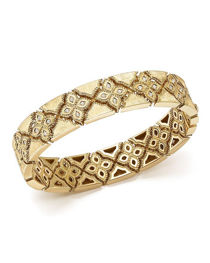 Roberto Coin - 18K Yellow Gold Venetian Princess Diamond Bangle