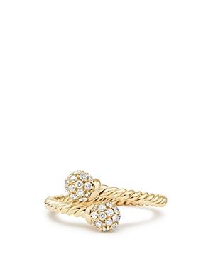 David Yurman Solari Bypass Ring with Diamonds in 18K Gold
