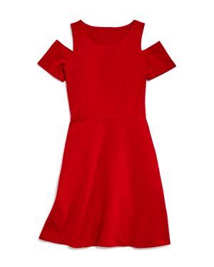 Aqua Girls' Cold-Shoulder Skater Dress, Big Kid - 100% Exclusive 2596349