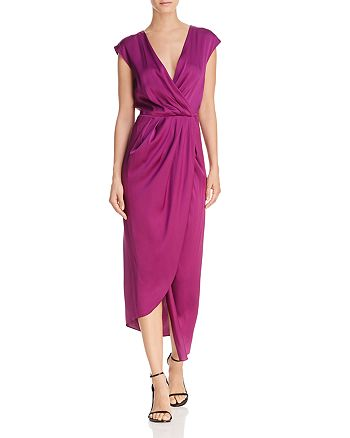 Donna Karan - Faux Wrap Column Dress