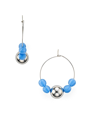 Rebecca Minkoff Matte Ball Hoop Earrings