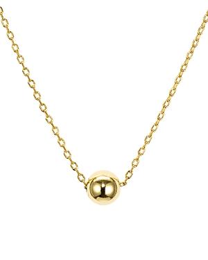 Aqua Sterling Silver Sphere Pendant Necklace, 16 - 100% Exclusive