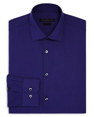 John Varvatos Star Usa Mirco Windowpane Slim Fit Stretch Dress Shirt