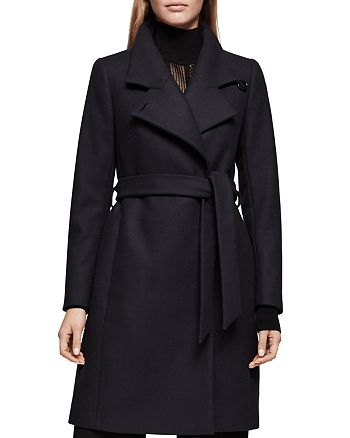 REISS - Harri Belted Spread-Collar Coat