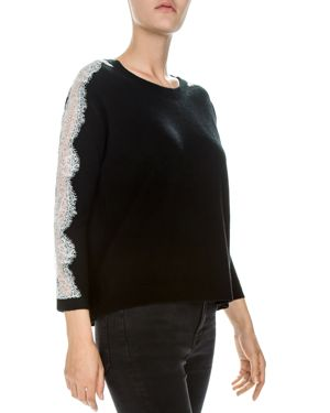 The Kooples Lace-Sleeve Sweater