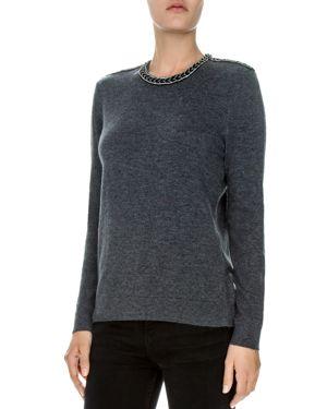 The Kooples Embellished Wool-Blend Sweater