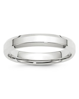 Bloomingdale's - Men's 4mm Bevel Edge Comfort Fit Band in 14K White Gold - 100% Exclusive