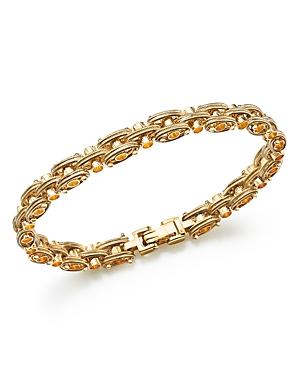 Bloomingdale's Textured Link Bracelet in 14K Yellow Gold - 100% Exclusive